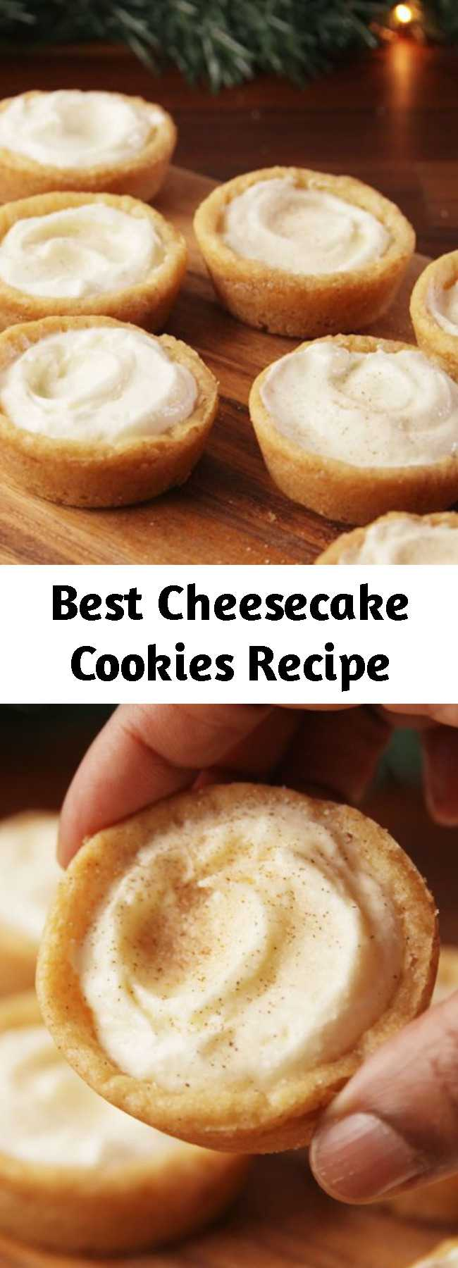 Best Cheesecake Cookies Recipe - Small bites of heaven. #food #pastryporn #holiday #christmas #easyrecipe #recipe #kids #ideas #inspiration #hacks