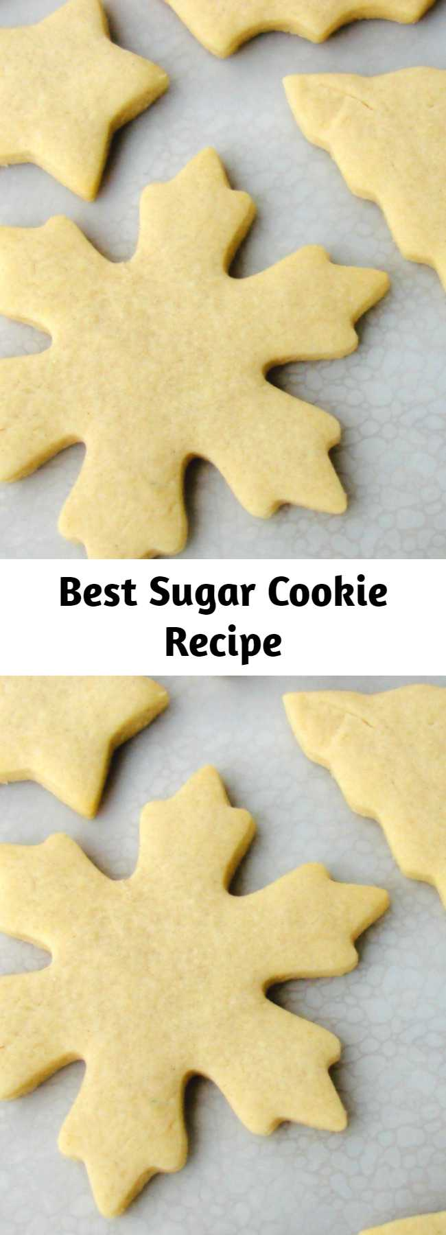 Best Sugar Cookie Recipe - This is the BEST sugar cookie recipe– no chilling the dough, cookies keep their shape when baked, soft and flavorful, perfect for decorating. Soft cut out sugar cookie recipe that keeps its shape and dough does not need to be chilled before baking- perfect edges every time!