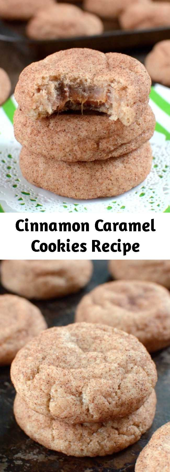 Cinnamon Caramel Cookies Recipe - These hidden candy center in these Cinnamon Caramel Cookies will make everyone smile when they find it. Fill your cookie jar with a batch today!