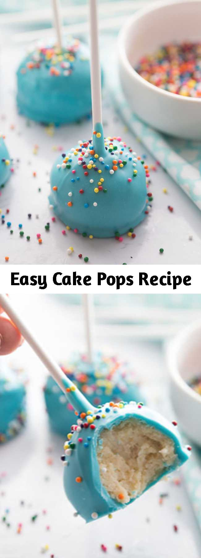Easy Cake Pops Recipe - How to Make Cake Pops - such a fun and easy treat to make with kids! Perfect to make for birthday parties too! #recipes #kidsrecipes #snacks #treats #bestideasforkids