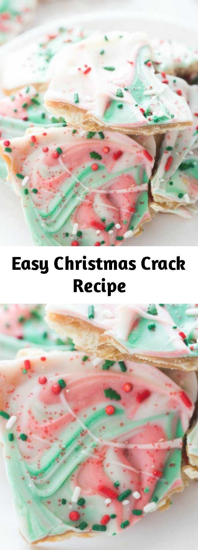 Easy Christmas Crack Recipe - Don't miss this Easy Christmas Crack Recipe for one of the best holiday party treats and gift recipes for your friends, neighbors, and co-workers! This is so easy to make and always a crowd favorite! #christmas #treats #desserts #gift #ideas #snacks #white #chocolate