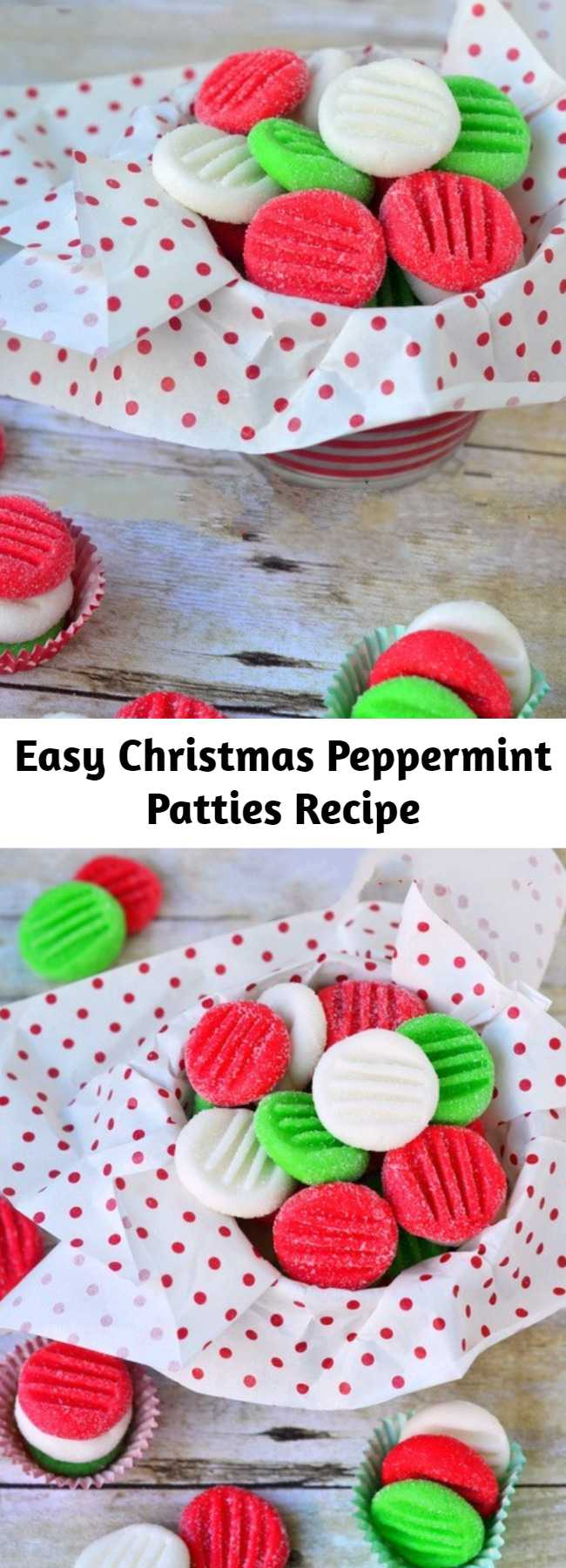 Easy Christmas Peppermint Patties Recipe - You're going to love this Easy Christmas Peppermint Patties recipe! Super easy to make, fantastically festive, and always a hit with kids and adults alike. These holiday treats are the perfect addition to cookie trays and make an excellent gift!