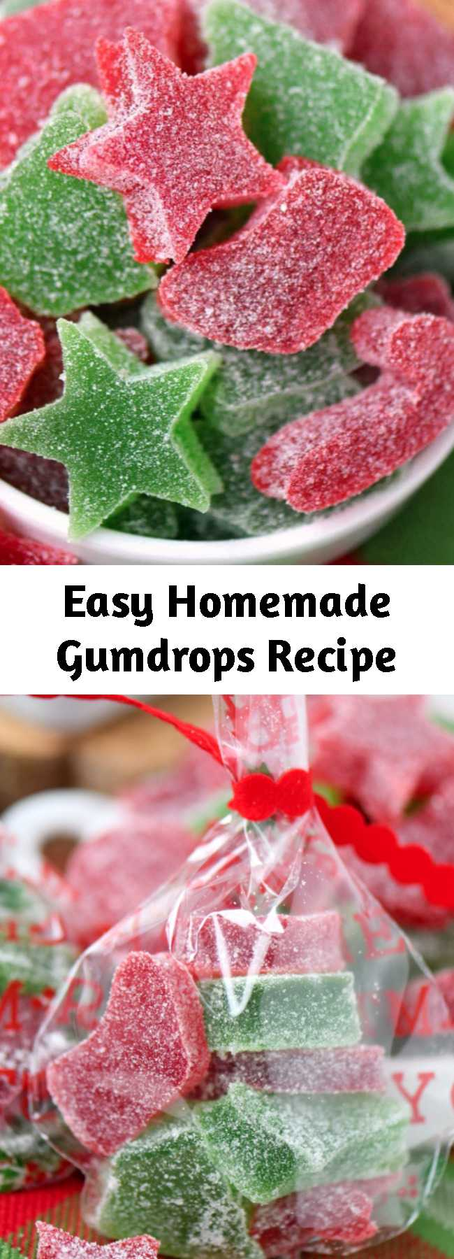 Easy Homemade Gumdrops Recipe - These Homemade Gumdrops are the perfect treat to make for friends and family during the holidays! Made with just a handful of ingredients – including applesauce – this easy gumdrop are sure to become a holiday tradition! A Christmas favorite with our family!