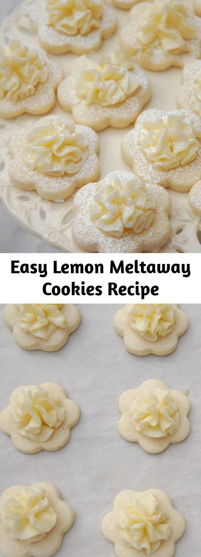 Easy Lemon Meltaway Cookies Recipe - What could be more lovely than Frilly Lemon Cookies at a Tea Party? I adore Lemon Meltaway Cookies and have been making them for Tea Parties for years.