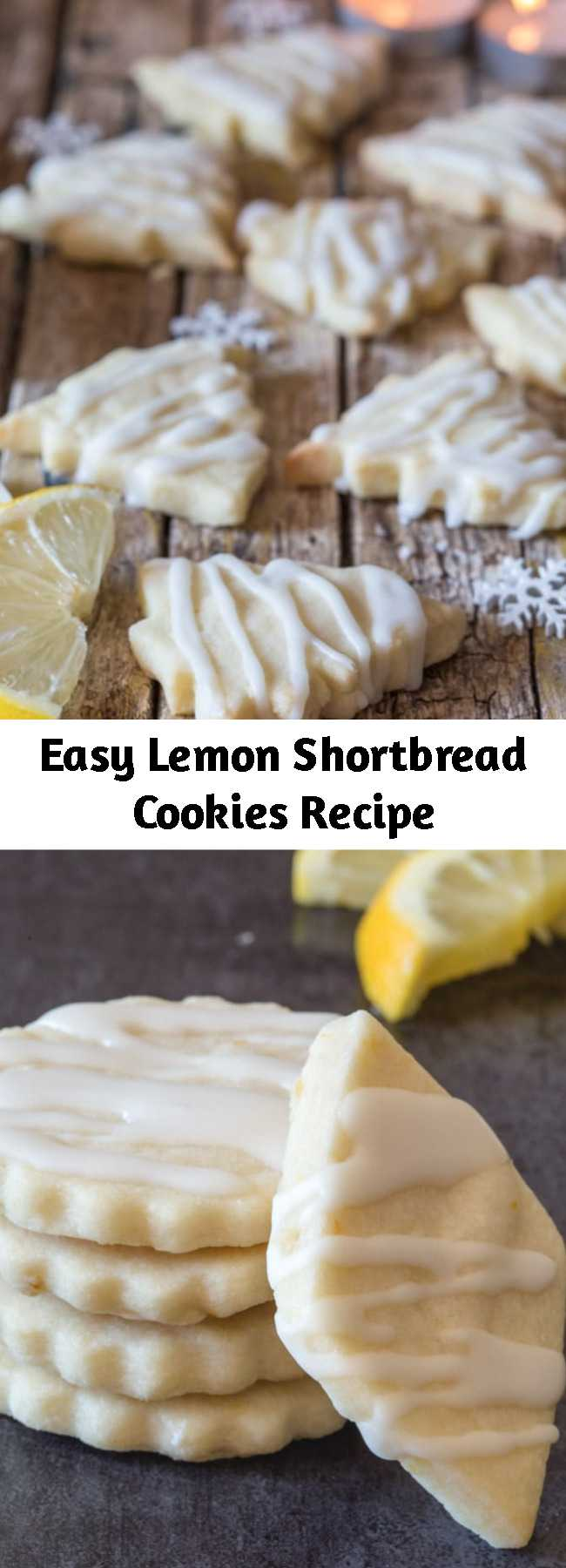 Easy Lemon Shortbread Cookies Recipe - Shortbread Cookies are a must and these Lemon Shortbread are the perfect Lemon Lovers melt in your mouth Cookie.