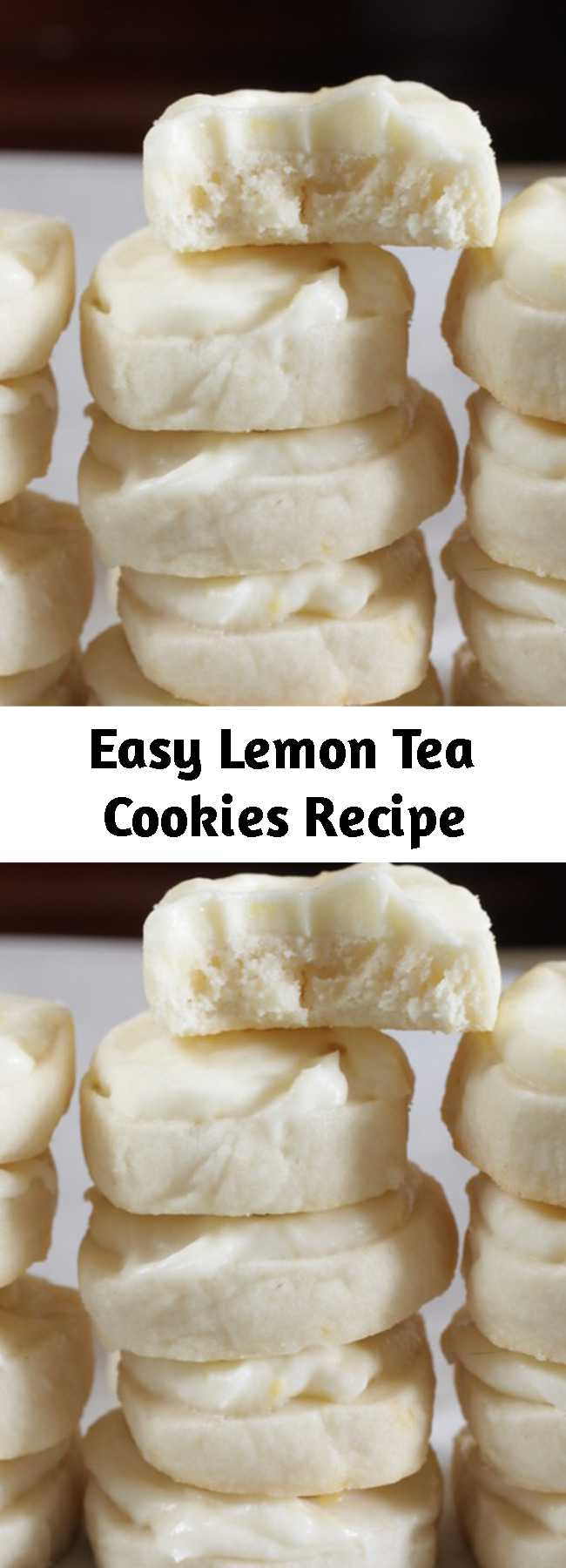 Easy Lemon Tea Cookies Recipe - My mom makes these at Christmas time and they are super addicting. Light but sweet and tangy. They're a nice addition to a holiday cookie platter. Bite-sized and refreshing, they are the perfect little treat with a cup of hot tea. Even better yet, they are a slice-and-bake cookie, so there's no rolling of dough, and you can bake them off as you like. For an alternative to frosting, simply toss baked cookies in confectioners' sugar.