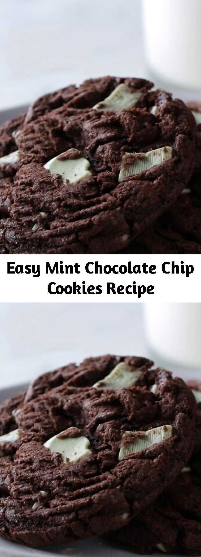 Easy Mint Chocolate Chip Cookies Recipe - Extremely Delicious!! Fun and easy to make too.