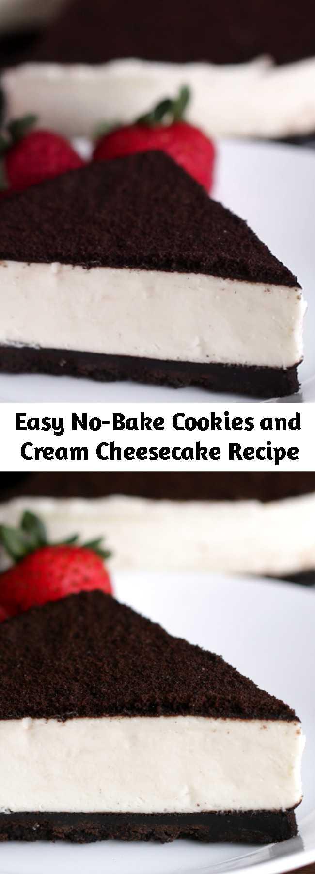 Easy No-Bake Cookies and Cream Cheesecake Recipe