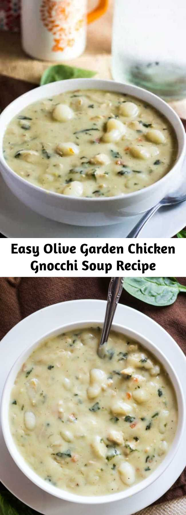 Easy Olive Garden Chicken Gnocchi Soup Recipe - Want a tasty copycat recipe that everyone will love? This Olive Garden Chicken Gnocchi Soup is easy, flavorful and completely addicting. Simple ingredients make this better than the original!