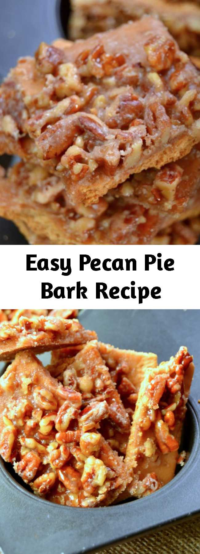 Easy Pecan Pie Bark Recipe - This Pecan Pie Bark is so incredibly good and it just can't get any easier to make. This is the perfect creative dessert recipe for the holidays. Make several batches because it disappears so fast!