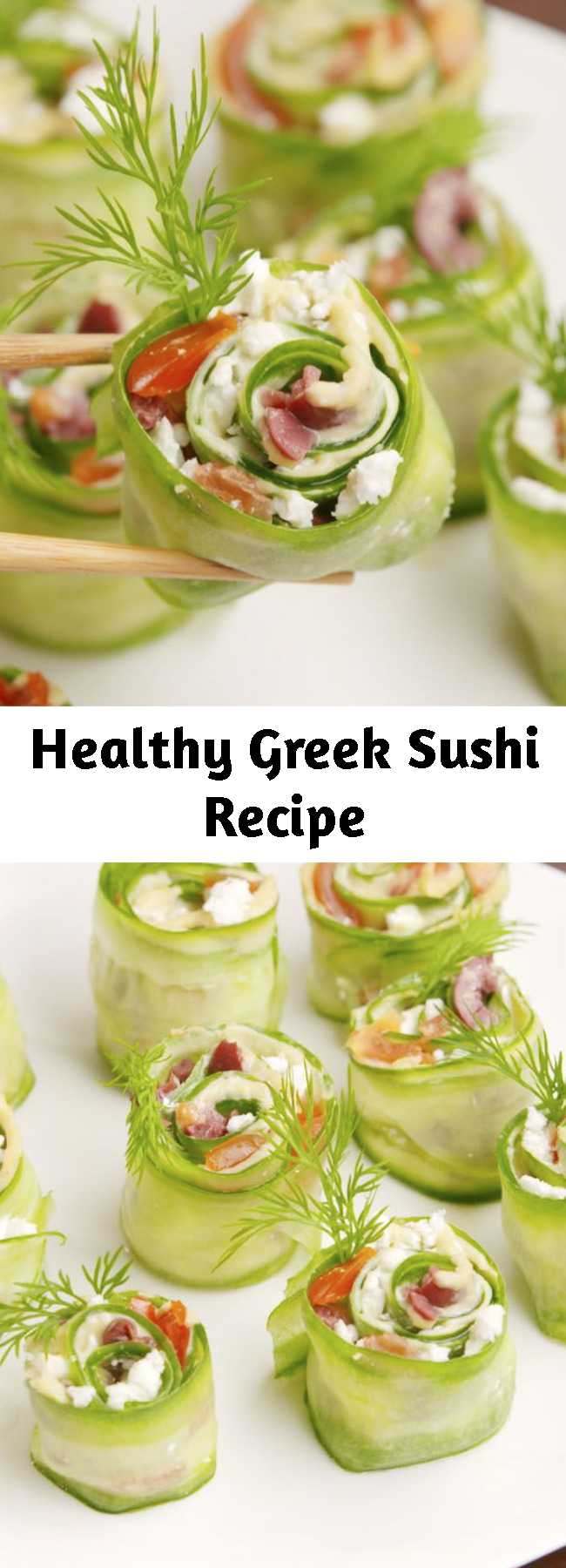 Healthy Greek Sushi Recipe - Get your chopsticks ready! #food #healthyeating #cleaneating #gf #glutenfree
