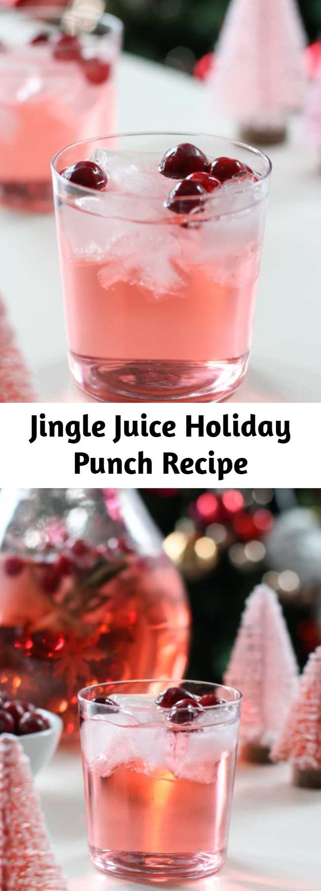 Jingle Juice Holiday Punch Recipe - This Jingle Juice Holiday Punch recipe is simple, delicious, and beautiful! You only need three ingredients to craft this delicious holiday punch recipe everyone will love!