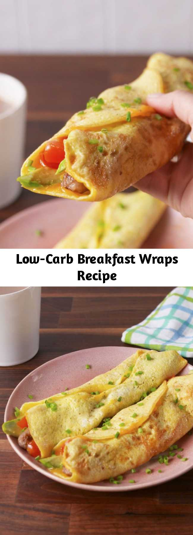 Low-Carb Breakfast Wraps Recipe - These are the best way to start your day.