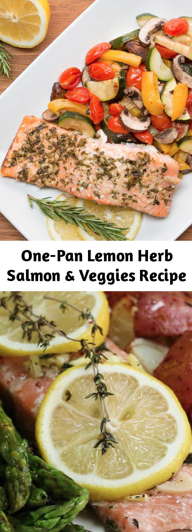 One-Pan Lemon Herb Salmon & Veggies Recipe