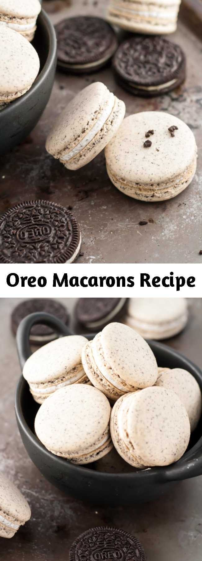 Oreo Macarons Recipe - Turn your favourite store-bought classics into something even more decadent with these delicate Oreo macarons.