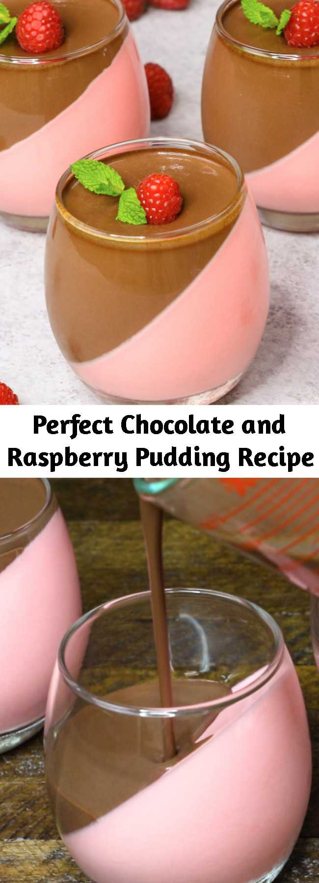 Perfect Chocolate and Raspberry Pudding Recipe - This Homemade Chocolate Pudding is a stunning make-ahead mouthwatering dessert that's creamy and smooth. It's an easy recipe with a few simple ingredients: raspberry jello powder, cool whip, half and half milk, gelatin, unsweet chocolate and sugar.