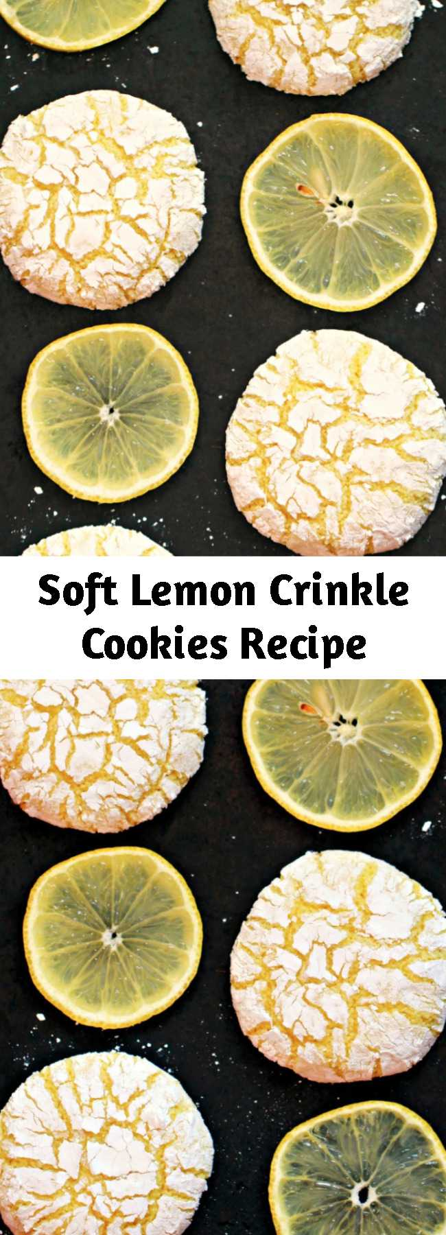 Soft Lemon Crinkle Cookies Recipe - These melt-in-your-mouth Lemon Crinkle Cookies are absolutely dreamy. This cookie recipe is one of my favourites, I could have these for dessert everyday and be happy!