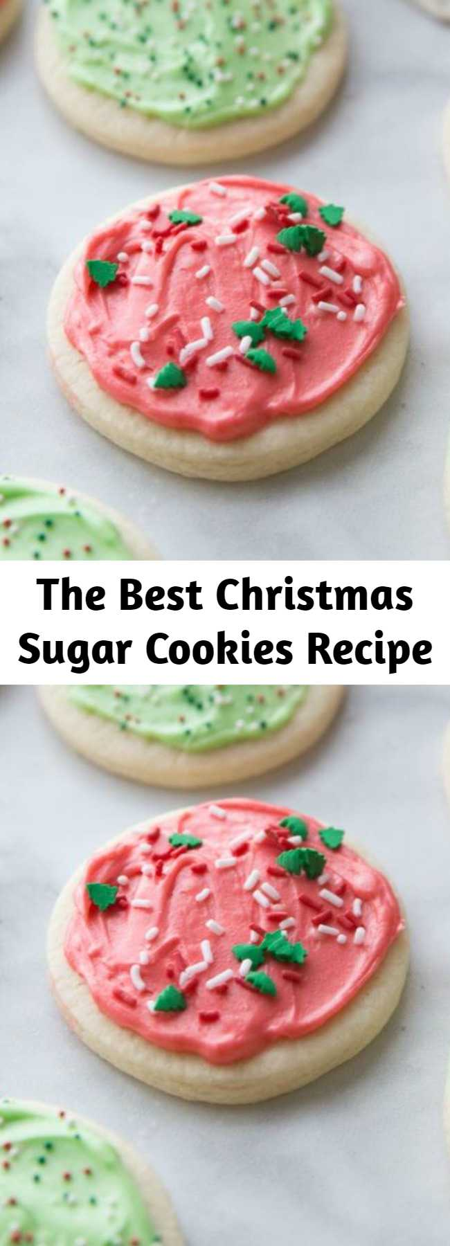 The Best Christmas Sugar Cookies Recipe - The Best Christmas Cookies for the holidays! Easy Sugar Cookies that everyone will LOVE! You have a melt in your mouth sugar cookies that are festive and fit into the holiday season. Soft cut out sugar cookies that require no chilling of the dough! This soft sugar cookie recipe will be a perfect fit to your baking needs this holiday season. #cookies #christmas #cookierecipe #cookieideas #christmascookies #snacks #treats
