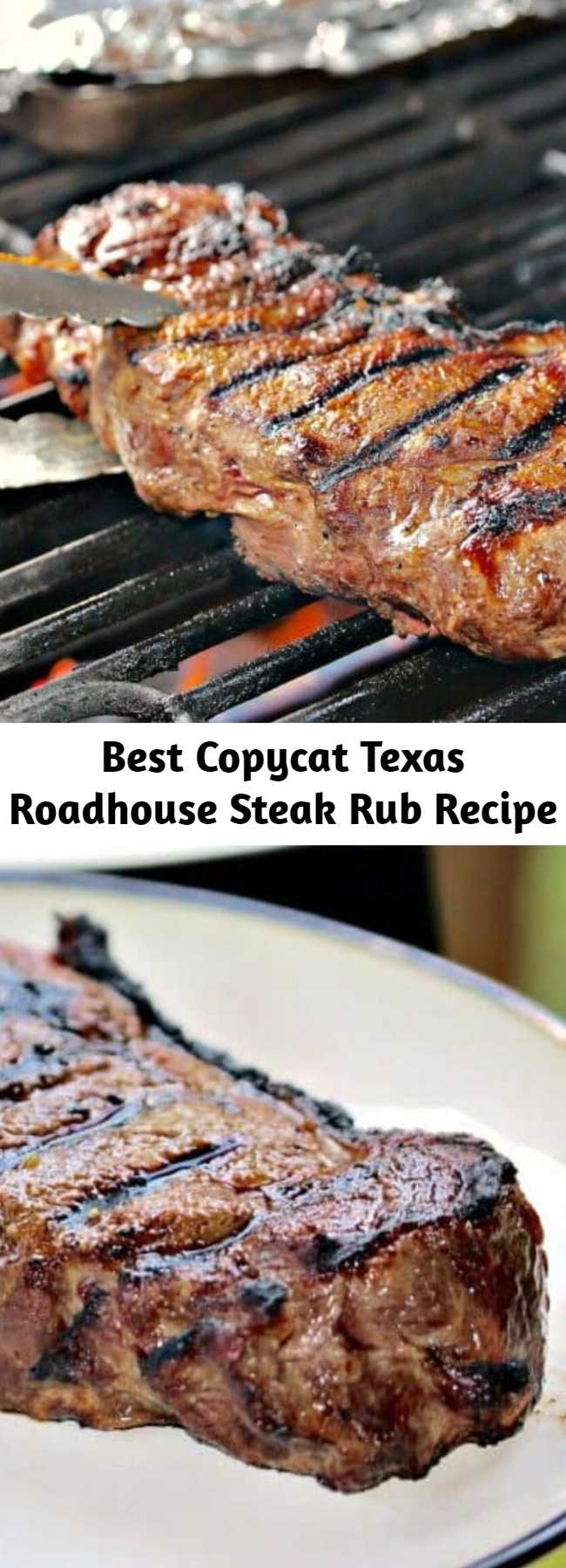 Best Copycat Texas Roadhouse Steak Rub Recipe - Just a few simple seasonings is all you need to make the best dry steak rub recipe to compliment the amazing flavors in your chicken or steak, and tastes just like the Texas Roadhouse restaurant!