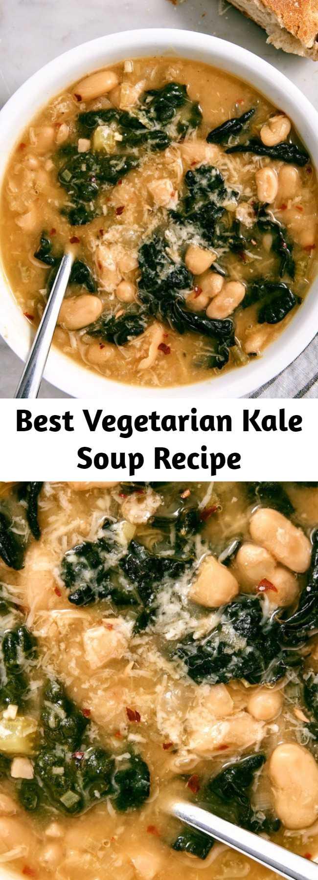 Best Vegetarian Kale Soup Recipe - Kale Soup is a hearty, vegetarian delight.