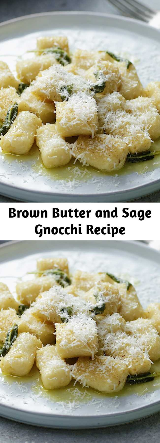 Brown Butter and Sage Gnocchi Recipe - Delicious homemade gnocchi with a simple brown butter and sage sauce. An easy twist on your classic Italian gnocchi.