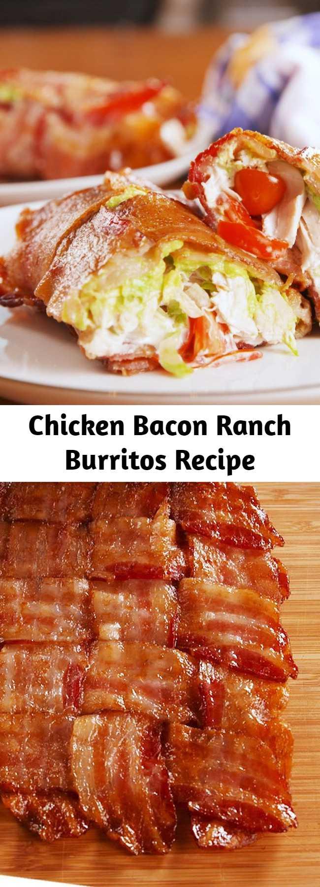 Chicken Bacon Ranch Burritos Recipe
