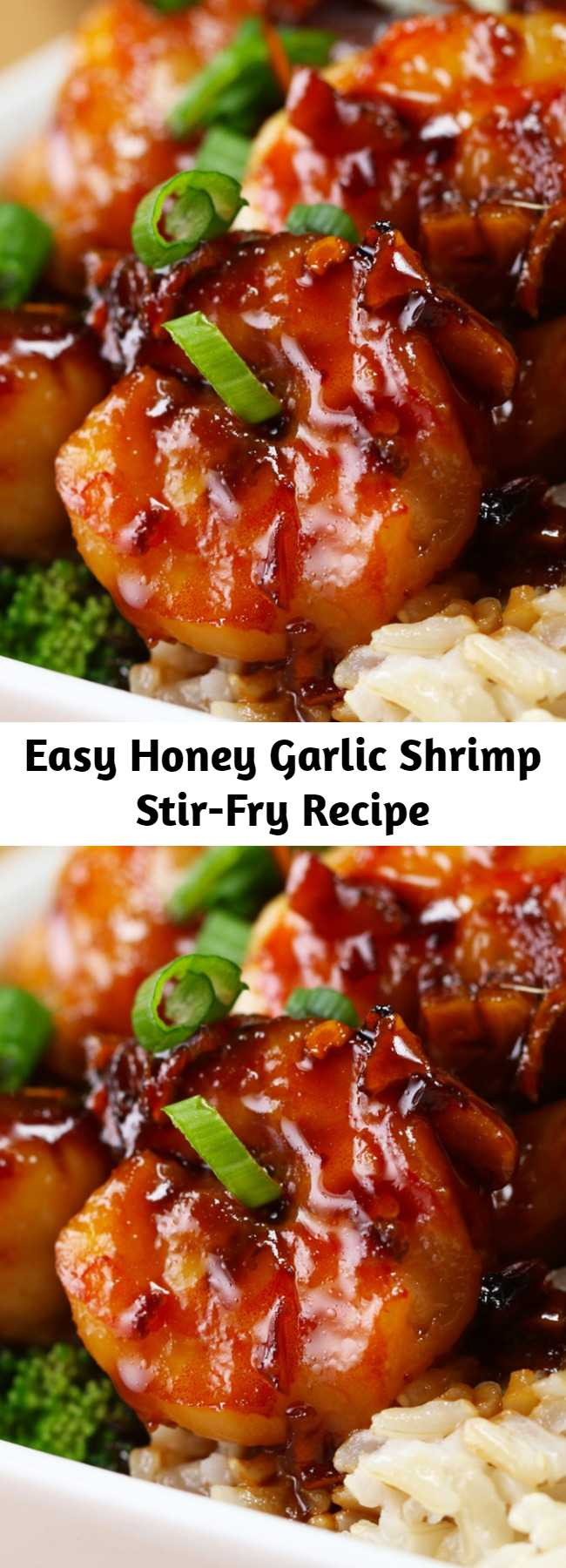 Easy Honey Garlic Shrimp Stir-Fry Recipe - Easy and delicious. This was like take-out but better!