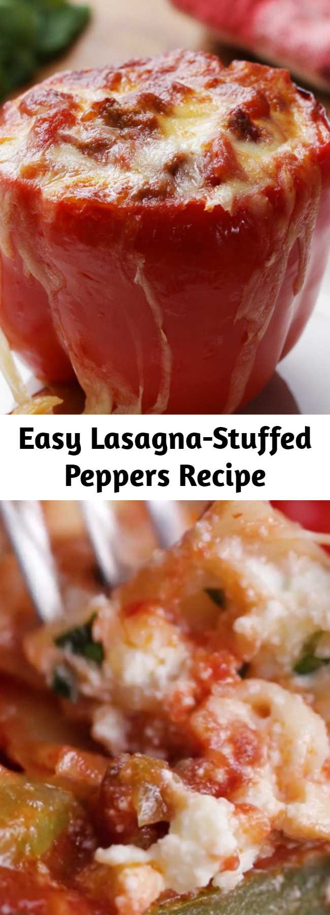 Easy Lasagna-Stuffed Peppers Recipe - Lasagna Stuffed Peppers!! A very tasty meal that is easy to prepare!