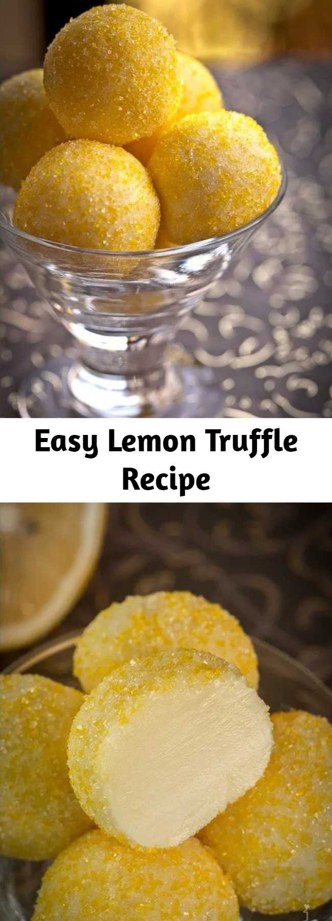 Easy Lemon Truffle Recipe - Lemon Truffles are made with just a couple of ingredients and are super easy to put together. If you love lemon, these little no bake dessert treats will become your favorite quick!