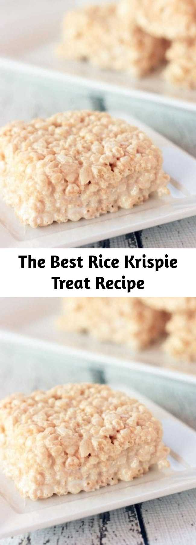The Best Rice Krispie Treat Recipe - Hands down THE BEST Rice Krispie Treats EVER! These treats are not your back-of-the-box, plain ole' treats. These ooey gooey treats are perfection that you can't resist!