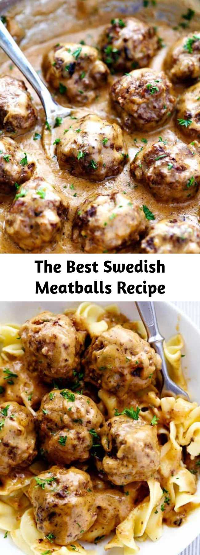 The Best Swedish Meatballs Recipe - The Best Swedish Meatballs are smothered in the most amazing rich and creamy gravy. The meatballs are packed with such delicious flavor. Savory, comforting and smothered with a sauce that melts in your mouth. You will quickly agree these are the BEST you have ever had!