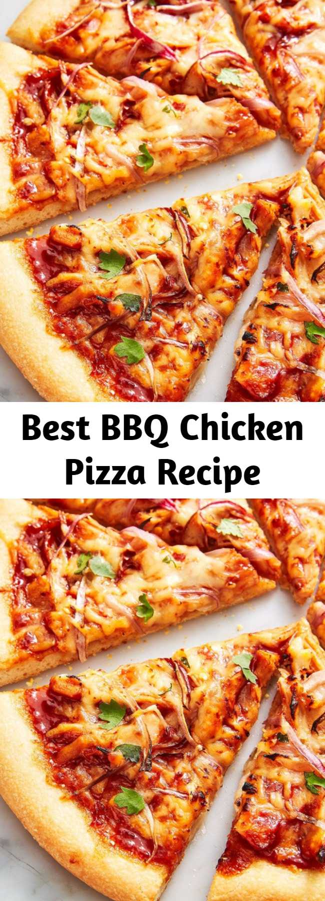 Best BBQ Chicken Pizza Recipe -  Our recipe uses tangy gouda, creamy mozzarella, and a hefty dose of red onions and cilantro for freshness. We happen to think it gives good ol' CPK a run for their money.