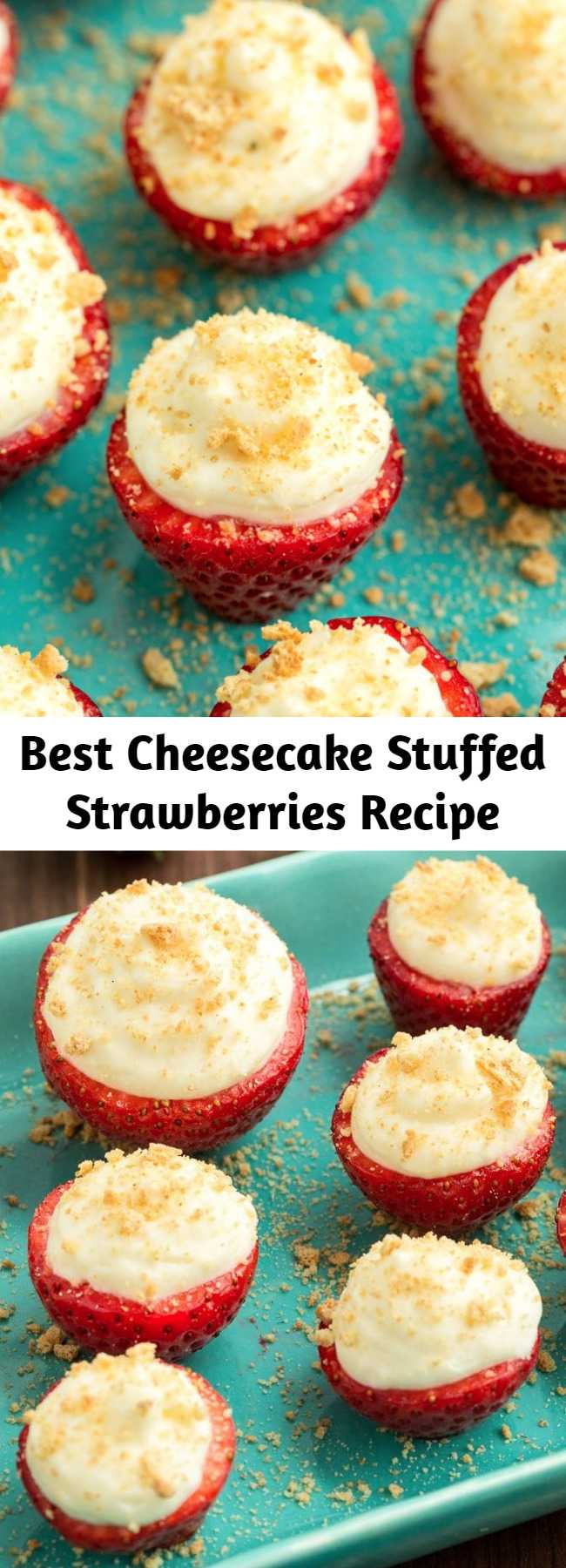 Best Cheesecake Stuffed Strawberries Recipe - Looking for easy dessert ideas? This fun and fruity dessert is the perfect no-bake treat.