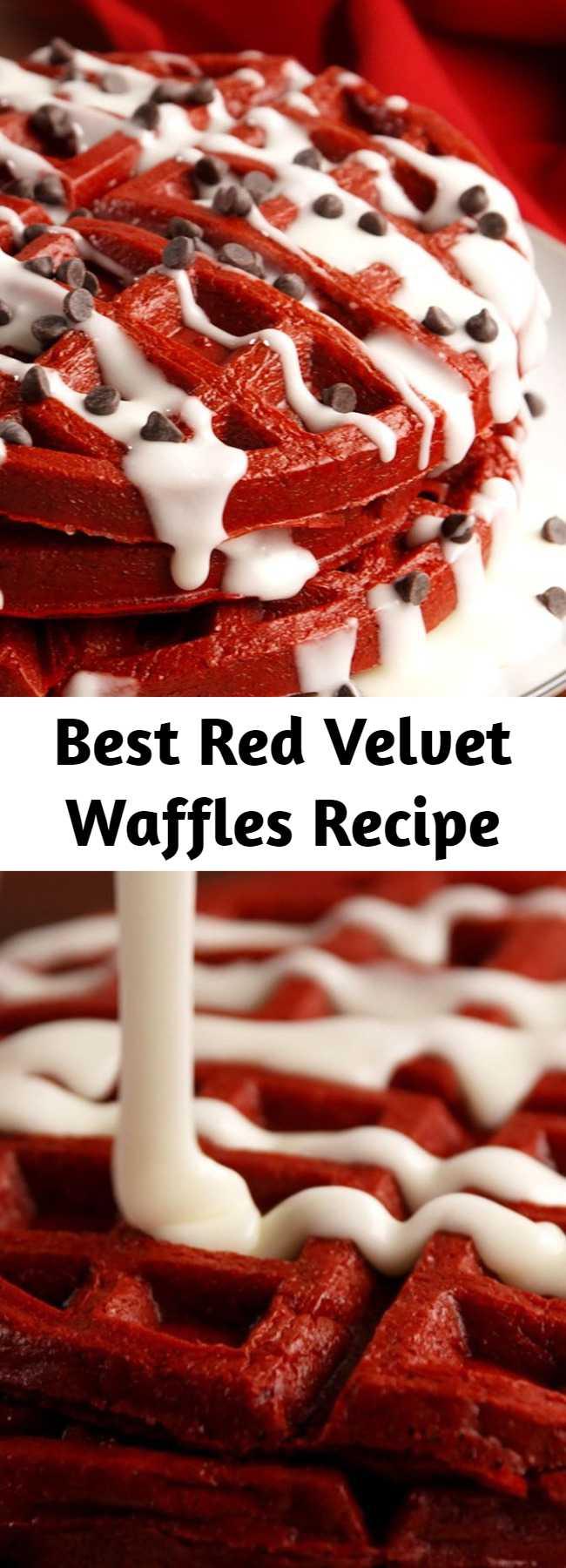 Best Red Velvet Waffles Recipe - Take your love for red velvet to the next level.
