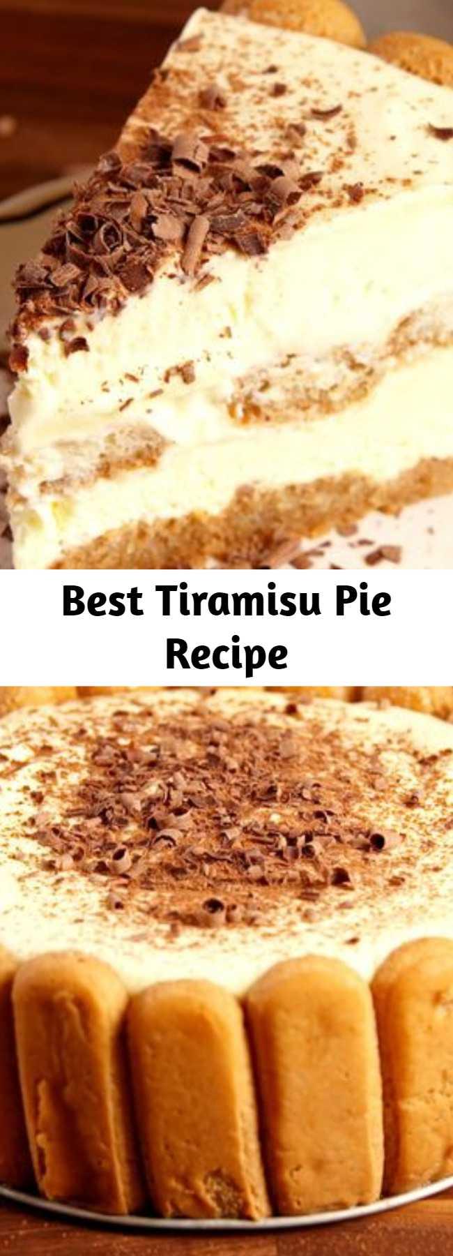 Best Tiramisu Pie Recipe - Looking for a tiramisu dessert? This Tiramisu Pie is the best. Tiramisu pie > regular tiramisu.
