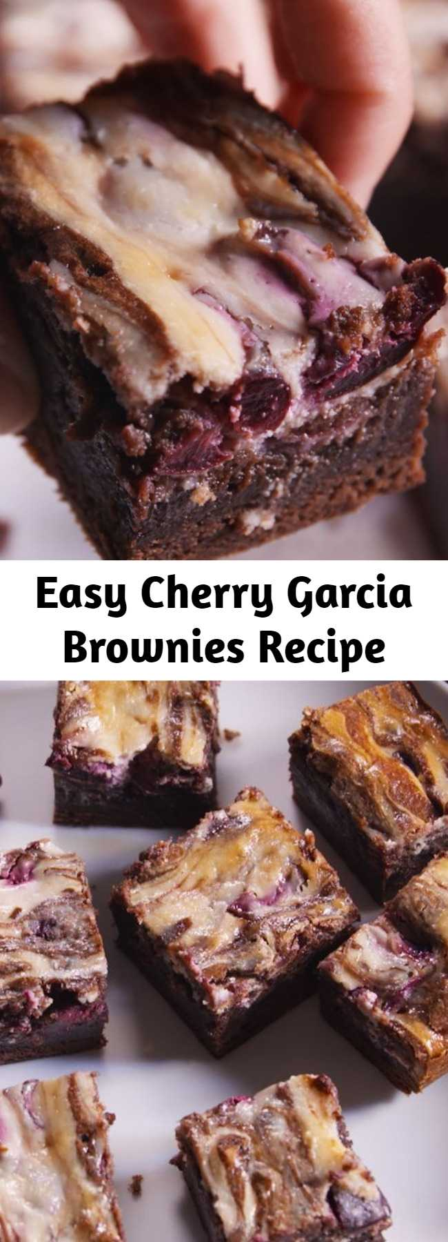 Easy Cherry Garcia Brownies Recipe - Looking for an easy brownie recipe? This Cherry Garcia Brownies Recipe is the best.
