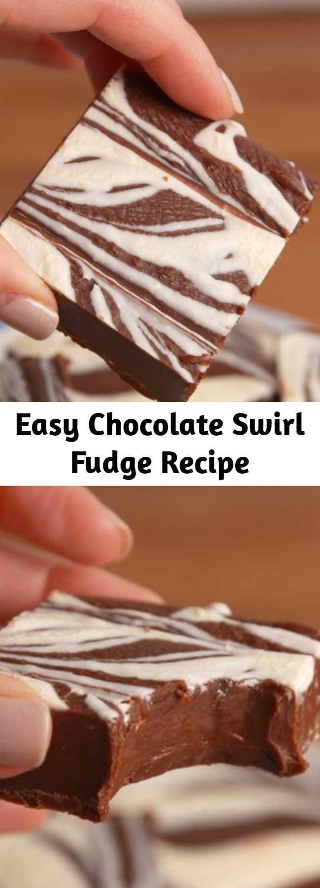 Easy Chocolate Swirl Fudge Recipe - Master this classic but surprisingly easy recipe for chocolate swirl fudge.