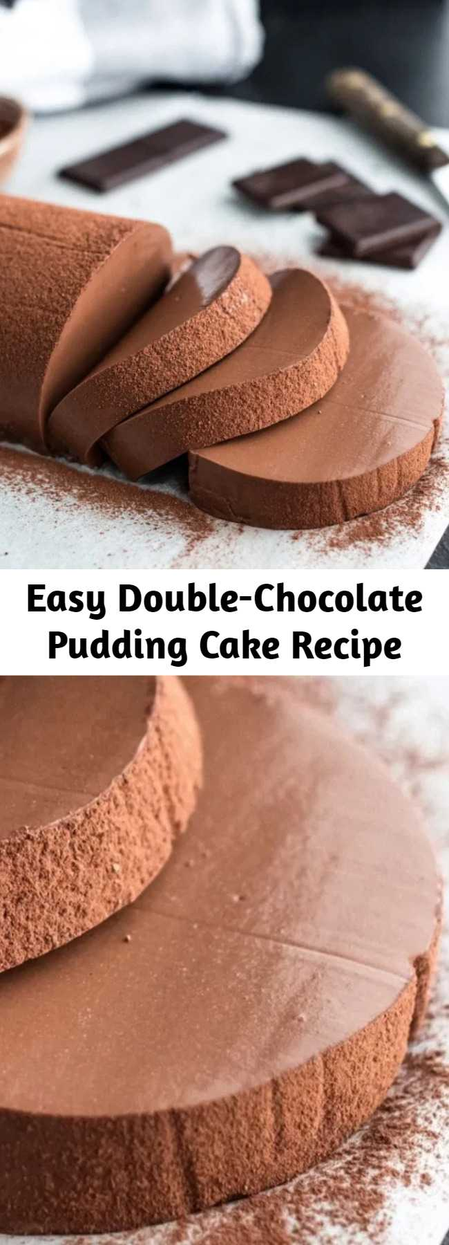 Easy Double-Chocolate Pudding Cake Recipe - Are you looking for a super creamy and chocolaty dessert that everyone will fall in love with? You do?! Then this Double-Chocolate Pudding Cake is perfect for you! It's super easy to prepare and you only need a few ingredients and little time to make it. Btw this recipe is also completely dairy & gluten free!