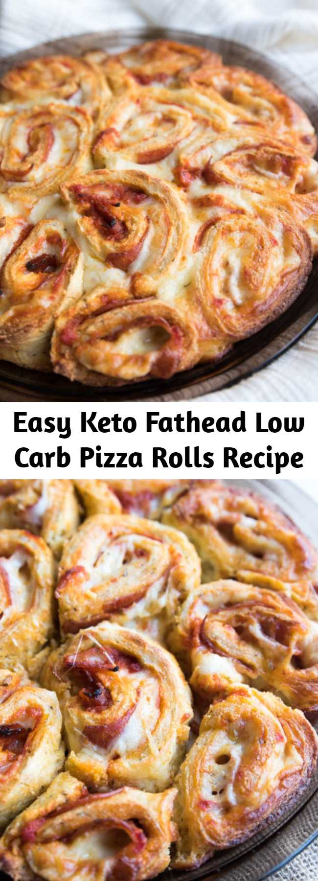 Easy Keto Fathead Low Carb Pizza Rolls Recipe - These are THE BEST KETO FATHEAD LOW CARB PIZZA ROLLS you will have taste! The texture is pretty amazing considering they are grain free, gluten free, nut free and low carb!