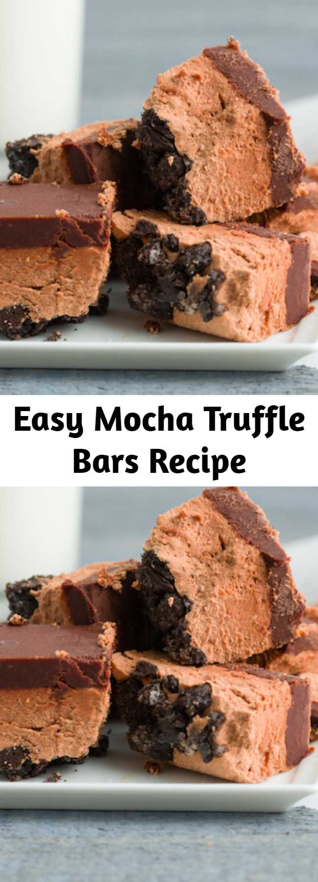 Easy Mocha Truffle Bars Recipe - Get your coffee and chocolate fix in one bite.