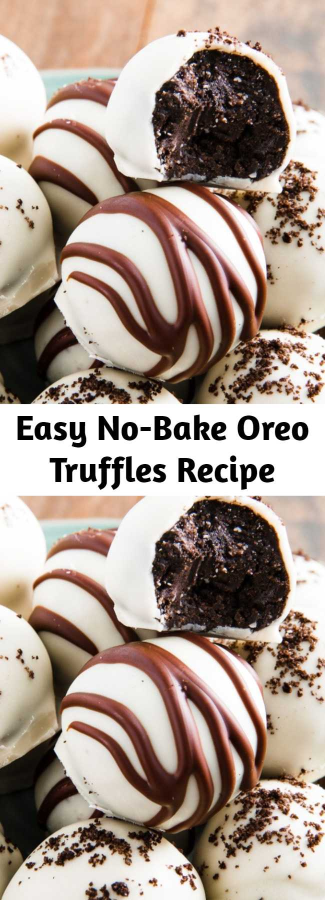 Easy No-Bake Oreo Truffles Recipe - When it comes to homemade desserts, it doesn't get much easier than Oreo truffles. You only need four ingredients, and they taste like chocolate cheesecake wrapped in even more chocolate, only you don't have to worry about water baths or preheating the oven.