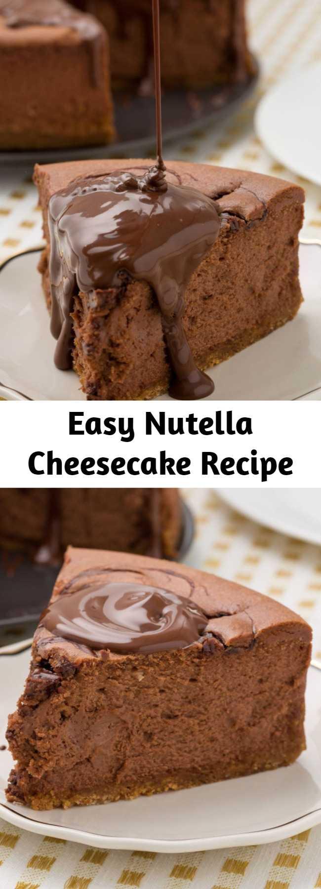 Easy Nutella Cheesecake Recipe - Nutella? Good. Nutella cheesecake? Even better.