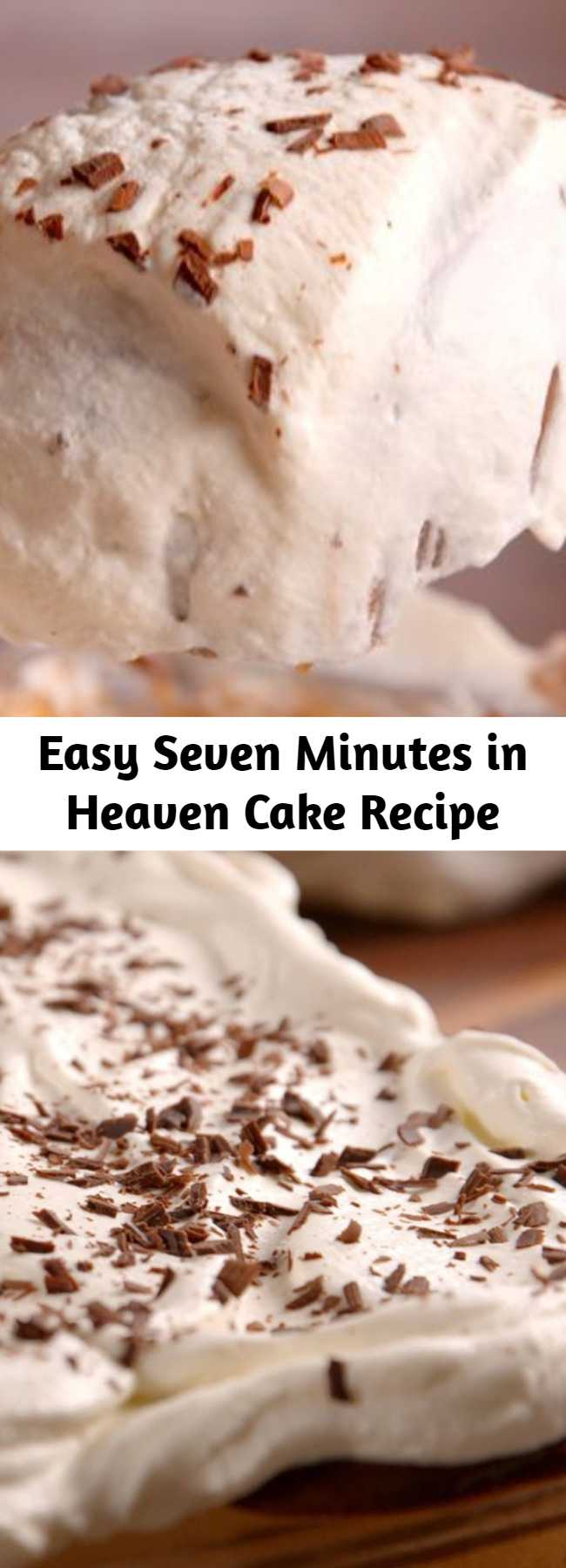 Easy Seven Minutes in Heaven Cake Recipe - Check out this seriously decadent recipe for seven minutes in heaven angel food cake.