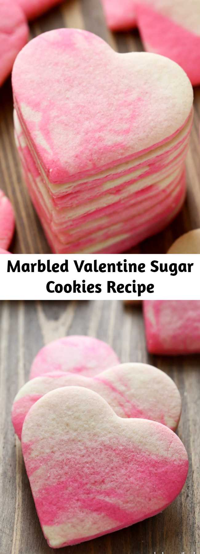 Marbled Valentine Sugar Cookies Recipe - Classic homemade sugar cookies with a fun marbled twist for Valentine's Day. A festive treat for the entire family!