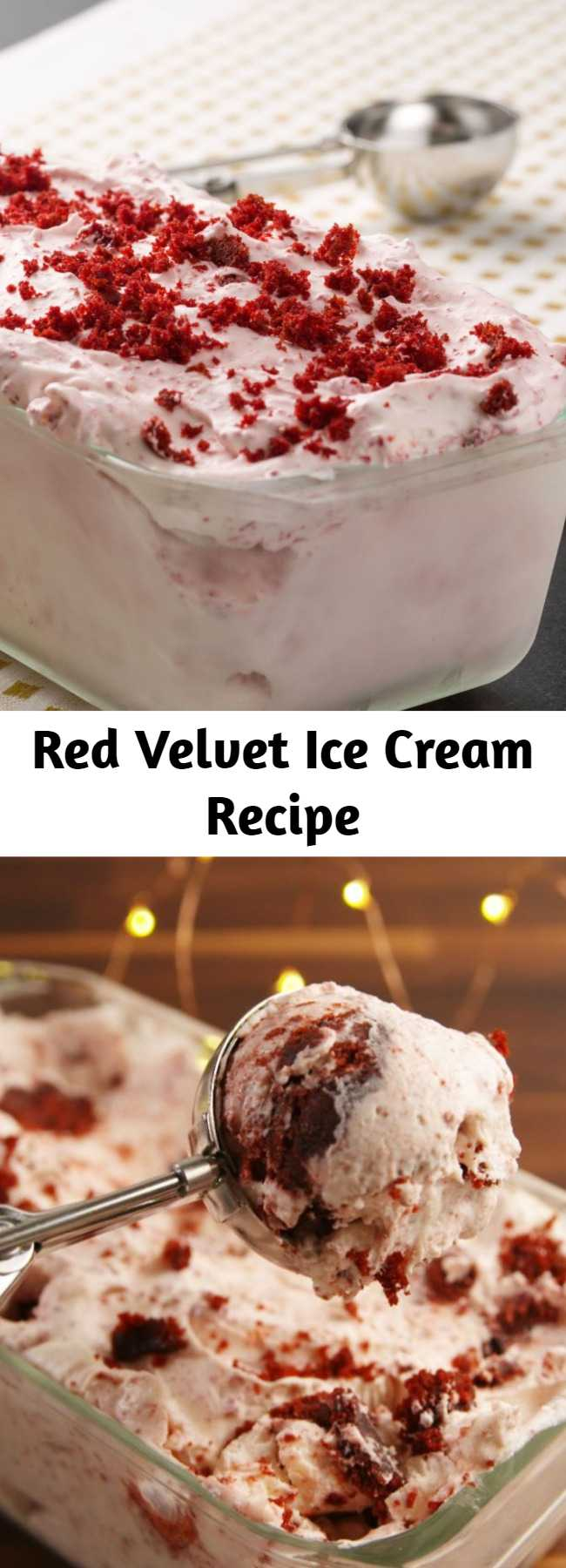 Red Velvet Ice Cream Recipe - A frozen holiday treat that has us feeling HOT.