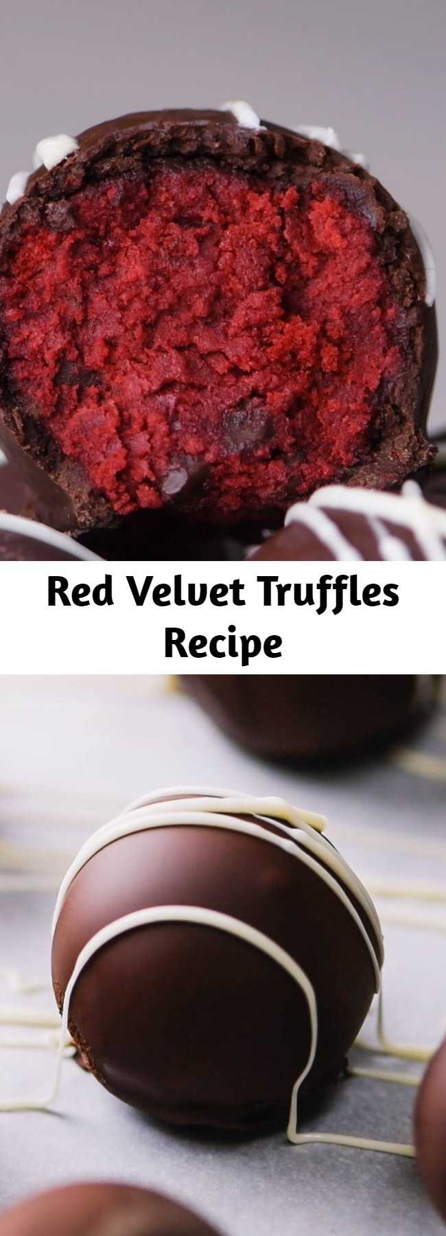 Red Velvet Truffles Recipe - This perfect delicious treat will keep your mouth watering! #desserts #chocolates #truffles