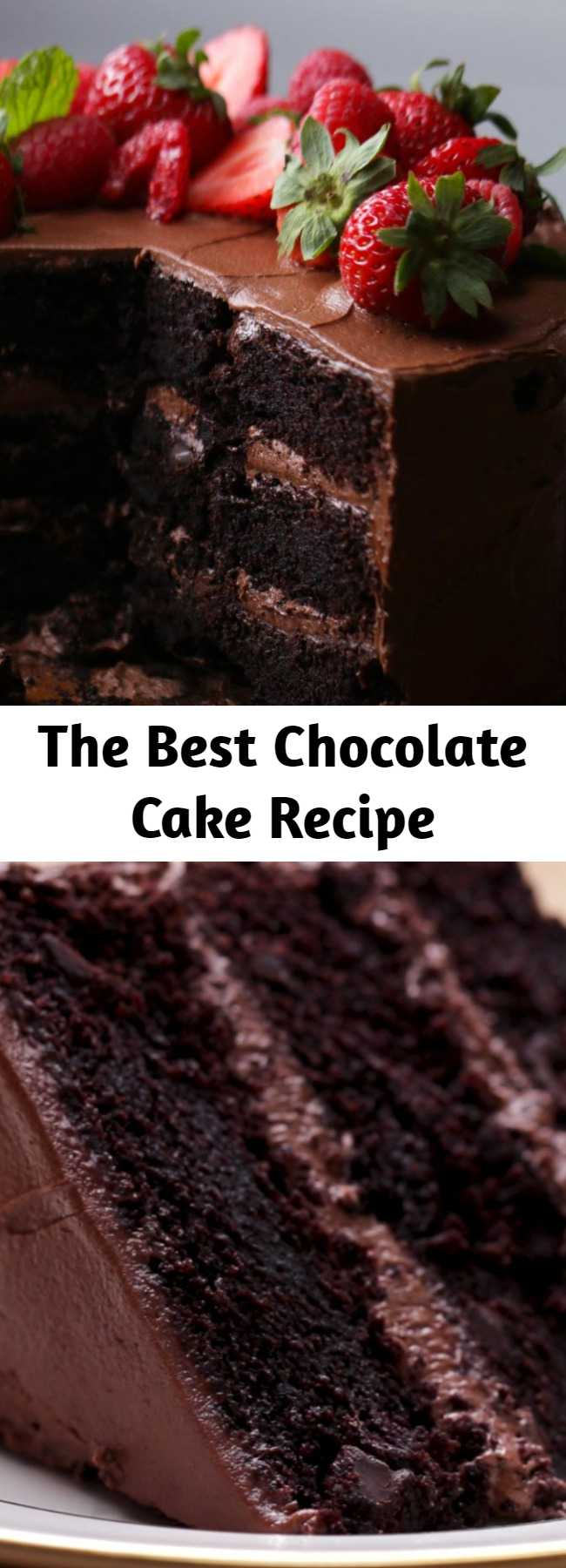 The Best Chocolate Cake Recipe - The Ultimate Chocolate Cake. This cake was a massive hit for a friends birthday, super moist and tasty! #cake #chocolate #dessert