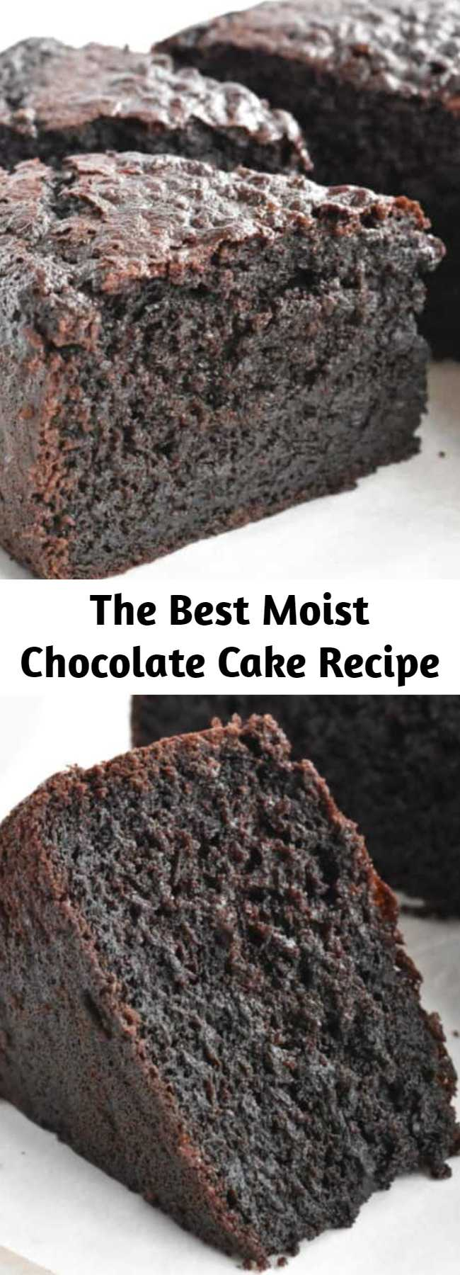 The Best Moist Chocolate Cake Recipe - It doesn't get much better than this ultra moist and rich chocolate cake! This is my go-to chocolate cake recipe for birthdays, dinner parties or just to enjoy. This cake only needs one bowl and no electric mixer.