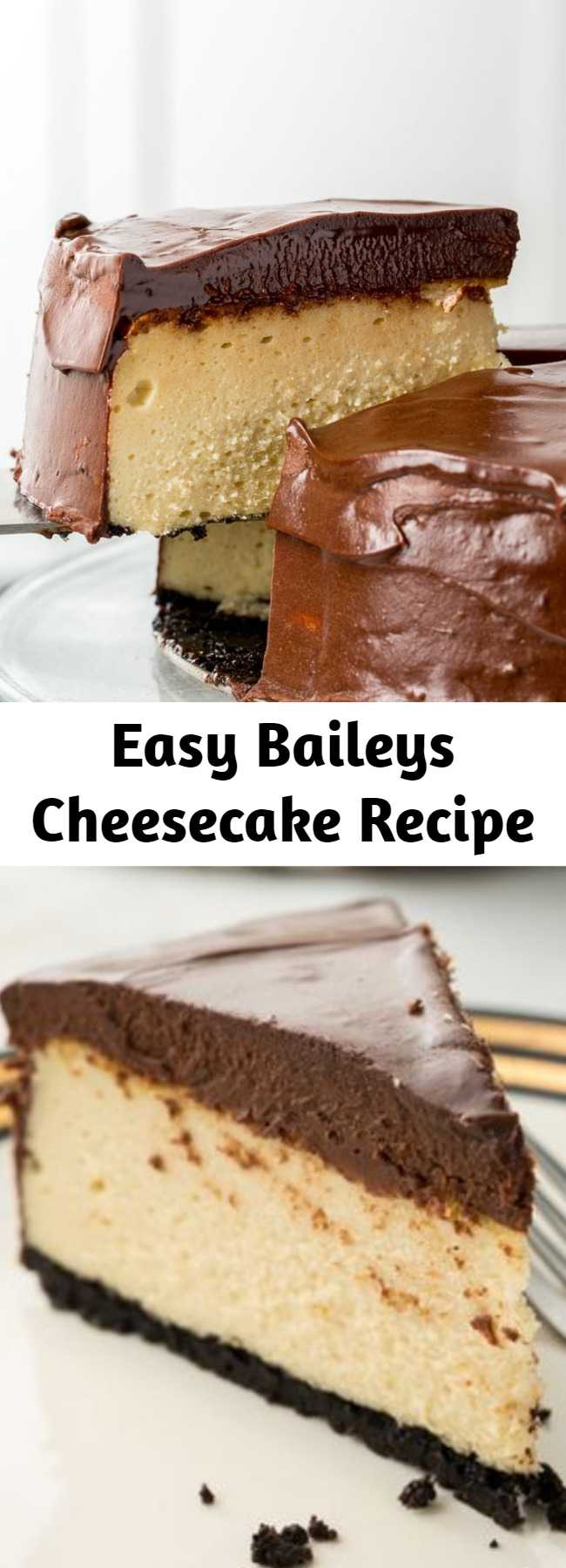 Easy Baileys Cheesecake Recipe -  Looking for the perfect Baileys cheesecake recipe? This Baileys Cheesecake is the best.