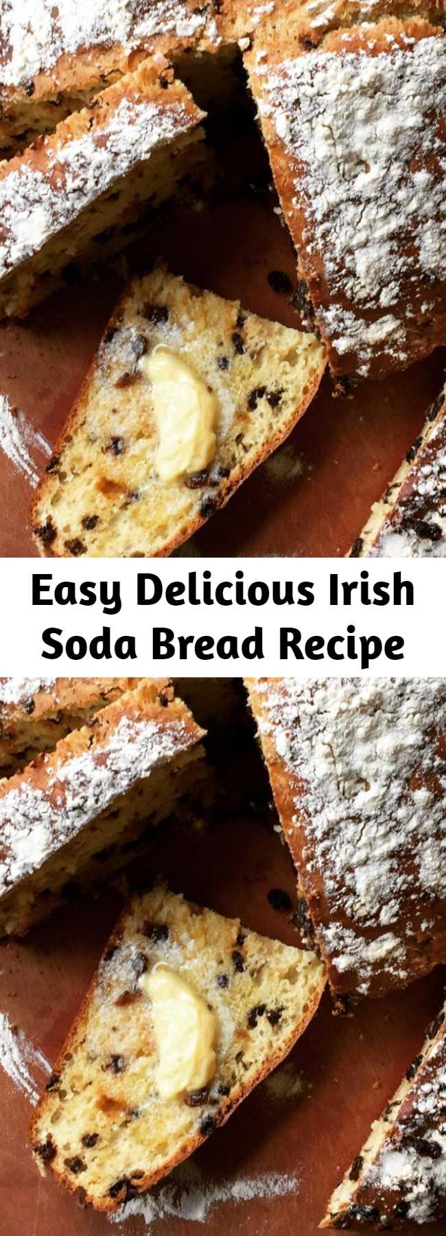 Easy Delicious Irish Soda Bread Recipe - I tried all the Irish soda bread recipes I could find. This was by far the best -- not just easy, but beautiful, amazingly moist and flavorful. I've made it over and over at the requests of family and friends. Toasts beautifully too, and wonderful with marmalade.